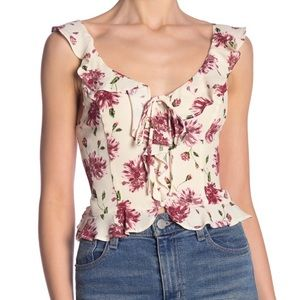 ASTR the Label Ruffle Button Down Top